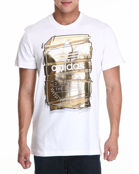 Adidas Men White Tongue Tee
