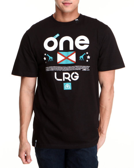 LRG Men Black One Lrg Tee
