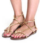 Women - Braided Gladiator Sandal