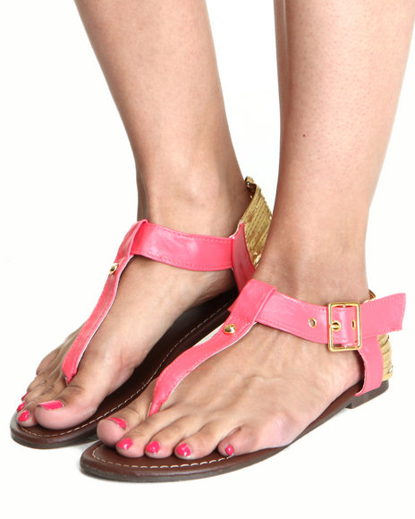 Fashion Lab - Women Pink T-Strap Sandal