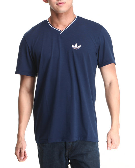 Adidas Men Navy Ultimate V Neck Tee