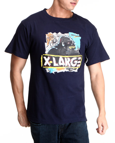 X-LARGE Navy Brooklyn Og Tee