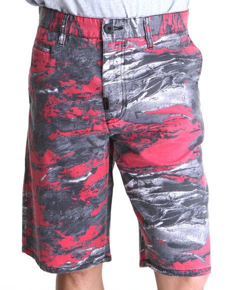 LRG Men Black Woodchip T/S Short