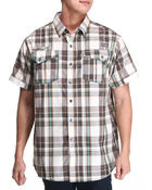 Button-downs - Double Pocket Plaid S/S Button Down Shirt