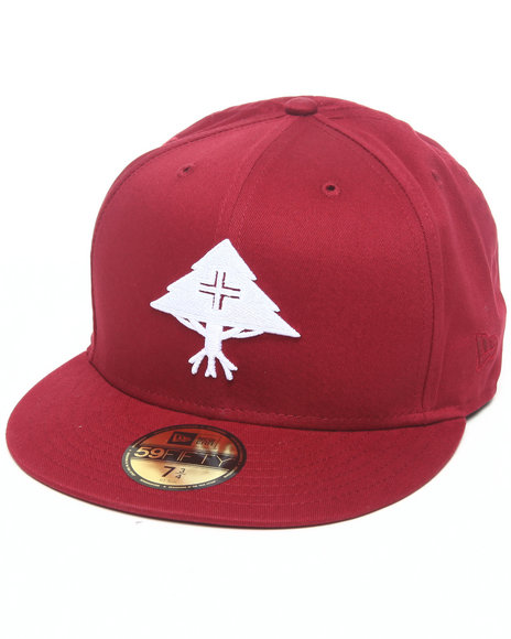 LRG Men Maroon Core Collection One New - Era Fitted Hat