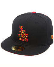Accessories - Los Angeles Dodgers Leopard Print Logo Custom 5950 fitted hat (Drjays.com Exclusive)