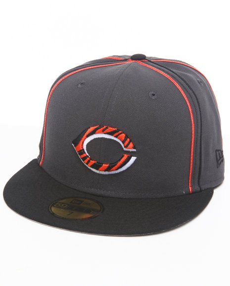 New Era - Men Black,Grey Cincinnati Reds Tiger Print Custom 5950 Fitted Hat (Drjays.Com Exclusive)