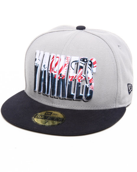 New Era - Men Grey New York Yankees Splatter Fill 5950 Fitted Hat