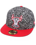Men - Chicago Bulls All Over Elephant Print Custom 5950 fitted hat (Drjays.com Exclusive)