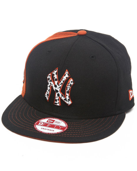 New Era New York Yankees Safari Print Custom Snapback Hat Black
