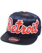 American Needle - Detroit Tigers All Satin Retro Snapback Hat