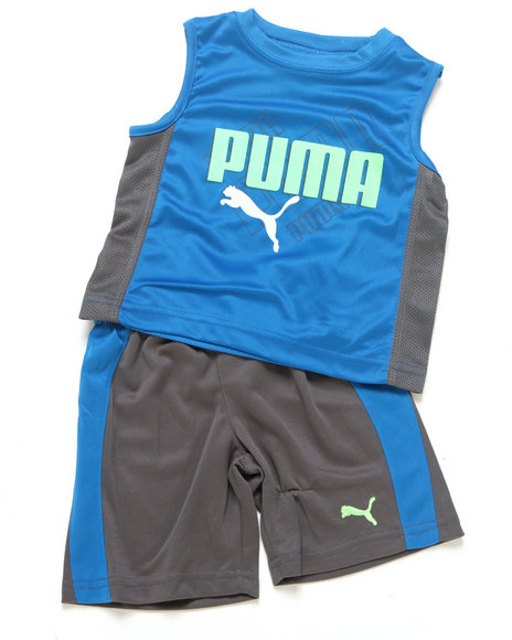 Puma Boys Blue 2 Pc Ombre Muscel Set (2T-4T)