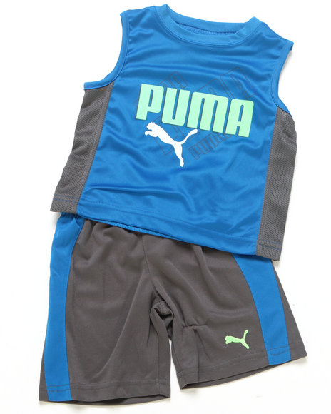 Puma Boys Blue 2 Pc Ombre Muscle Set (Infant)