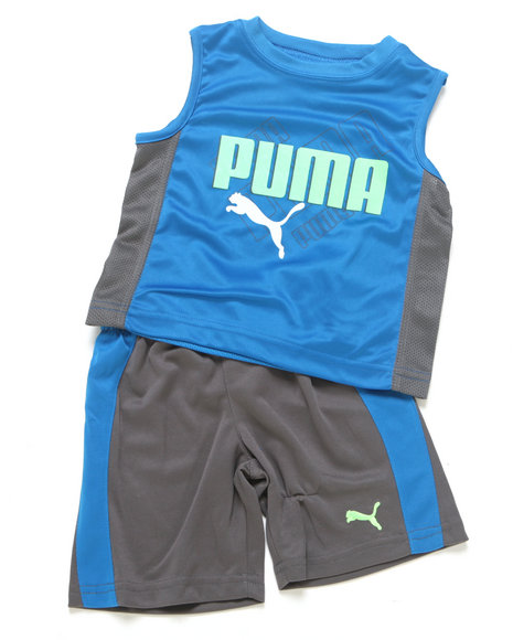 Puma Boys Blue 2 Pc Ombre Muscle Set (Newborn)