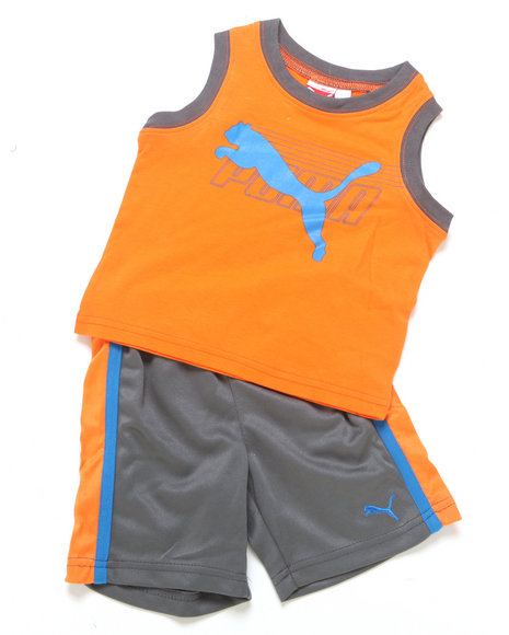 Puma Boys Orange 2 Pc Cat Muscle Set (2T-4T)