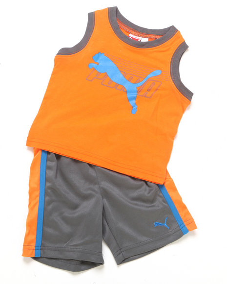 Puma Boys Orange 2 Pc Cat Muscle Set (Newborn)