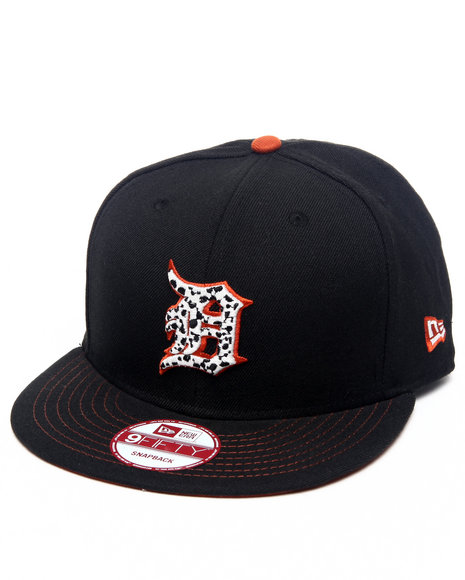 New Era Detroit Tigers Safari Sprint Custom Snapback Hat Black