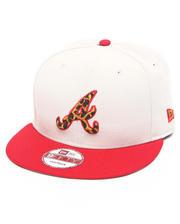 Hats - Atlanta Braves White/ Leopard Print Logo Custom snapback hat (Drjays.com Exclusive)