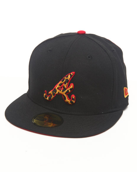 New Era - Atlanta Braves Leopard Print Logo Custom 5950 fitted hat (Drjays.com Exclusive)