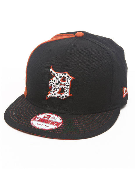 New Era Detroit Tigers Safari Print Custom Snapback Hat Black