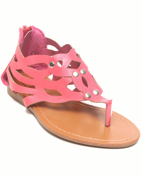 La Galleria Girls Coral Laser Cut Sandal