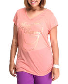 Women - Around the Way V-neck Logo Tee (Plus)