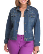 Outerwear - Starlet Stuff Lightweight Denim Jacket (plus)