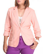 Outerwear - Lightweight Linen Blazer (plus)