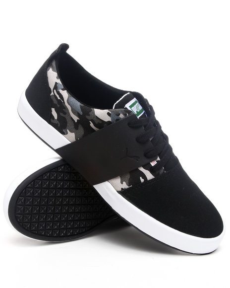 Puma Men Black El Ace 3 Camo Sneakers