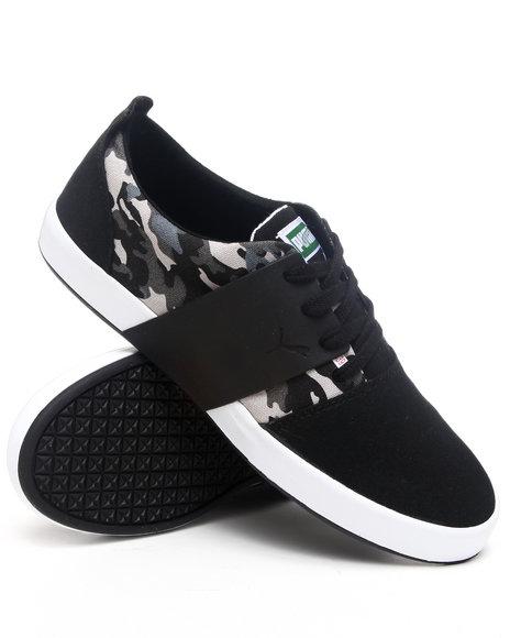 Puma Men Black El Ace 3 Camo Sneakers
