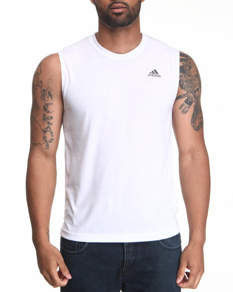 Adidas Men White Cima Ultimate Sleeveless Tee