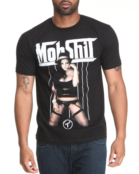 T.I.T.S. Men Black Mob Suit Tee