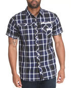 Men - S/S PLAID BUTTON DOWN SHIRT W/ TWILL TRIM
