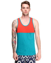 Shades of Grey by Micah Cohen - Colorblock Pocket Tank Top