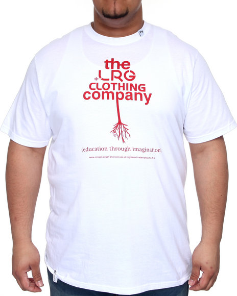 LRG Men White The Rooted Lrg Tee (B&T)