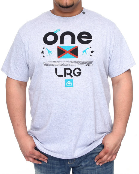 LRG Men Grey One Lrg Tee (B&T)