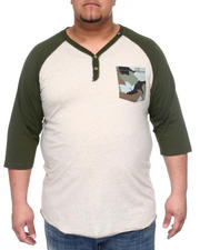 LRG - Up Rise Y-Neck Henley (B&T)
