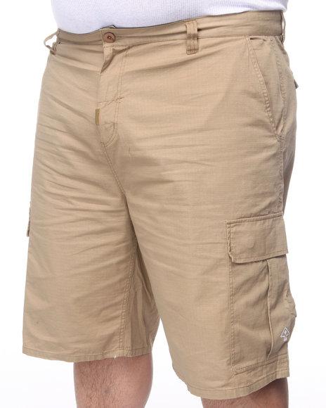 LRG Men Khaki Core Collection Classic Cargo Shorts (B&T)