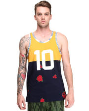 10.Deep - Chaos Navy Rose Runner Tank