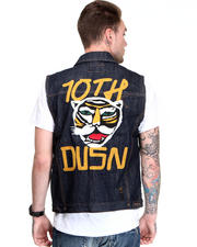 Vests - Raw Indigo Cyrus Embroidered Vest
