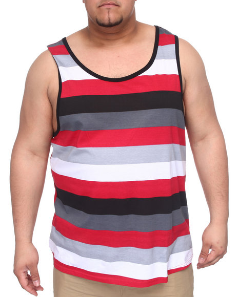 Buyers Picks Men Red The Shadow Tank Top (B&T)