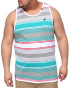 Men - Resolutionary Camp Striped Tank (B&T)