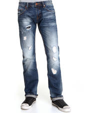Men - Hagen Straight Leg Whiteout Blown Pocket Detail Denim