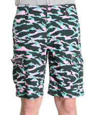 Men - Cotton Twill Camo Cargo Short
