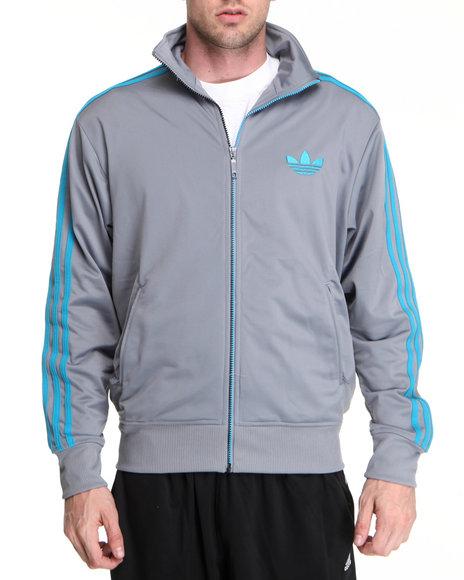 Adidas Men Grey Adi Firebird Track Jacket