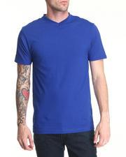 Men - Plain Short Sleeve V-Neck Tee