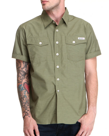 Enyce Men Green Highway S/S Button-Down
