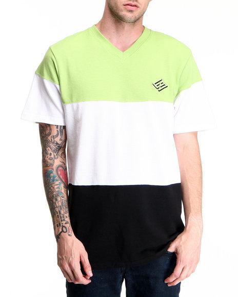 Enyce Men Green Color Block T-Shirt