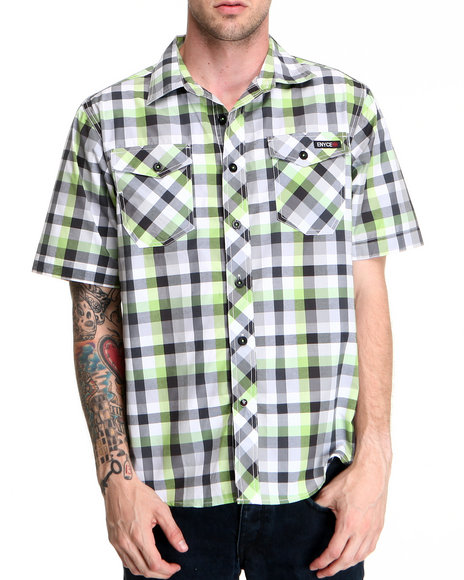 Enyce Men Green Surf S/S Button-Down