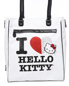 Bags - I Love Kitty Tote w/stones glitter